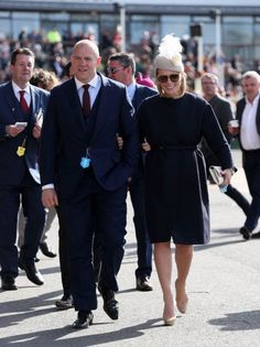 zaratindall:  Zara Phillips and Mike Tindall at the Grand National race, April 11, 2015