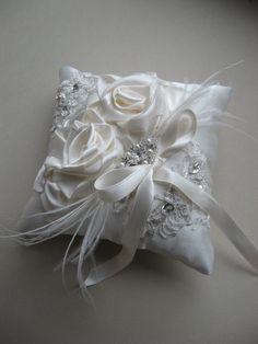 Wedding Ring pillow Ring bearer Wedding accessories by ByNaturelle, $58.00