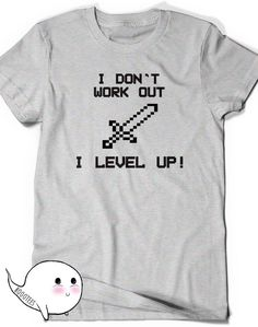 Funny Gamer Tee T-shirt Tee Mens Womens Ladies Funny Gift ideas Geek Nerd Present Geekery Work Out Gym I Level Up Video Games Guys or Girls by BoooTees on Etsy https://www.etsy.com/listing/239048810/funny-gamer-tee-t-shirt-tee-mens-womens