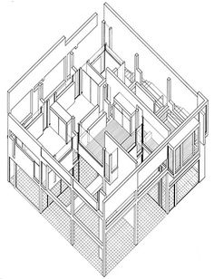 Eisenman's Evolution: Architecture, Syntax, and New Subjectivity. Axonometric.
