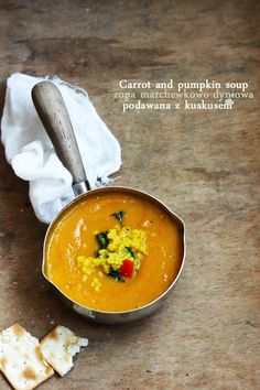 BAYADERKA-food recipes and photos. Blog cooking. ideas for cakes, desserts and more.: Cream of carrot and pumpkin / carrot and pumpkin soup