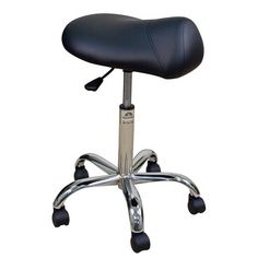 Oakworks Professional Saddle Stool with Chrome Base, Low Height Range, Black Upholstery Office Stool, Desk Stool, Chairs For Bedroom Teen, Saddle Chair, Swivel Rocker Recliner Chair, Home Bar Furniture, Ikea Chair, Ergonomic Chair, Chrome