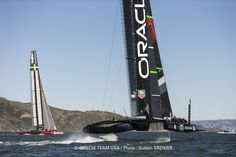 ORACLE TEAM USA trains with Artemis Racing in the San Francisco Bay - February 2013.