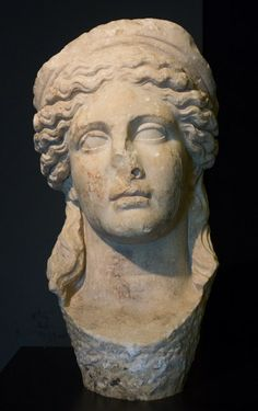 Marble Head of Hera - Hellenistic period, 2nd century BC, 44 cm - Archaeological Museum, Tirana