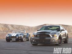 2011 Ford Mustang Shelby GT500 Super Snake VS 427 Cobra Shootout ...