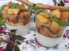 Kasza manna z karmelizowanymi jabłkami