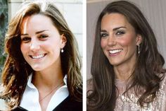 kate middleton before and after, tan, hair length