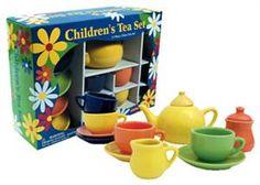 fun ceramic tea set for children