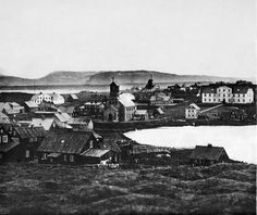 Reykjavík na década de 1860.