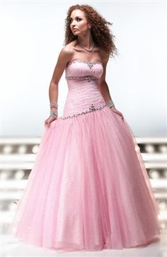 Sleeveless Tulle Ball Gown Strapless Sweet 16 Style Code: 00416 $149