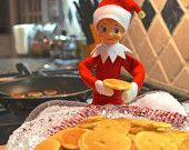 Printable Elf Antic #55 // Breakfast at Tiffany's (Elf's) - A printable Elf Antic for your Christmas Elf $5.00 via etsy #elfonashelf #elfshelf #elfideas #xmas #christmas #etsy #elflife #instantdownload #elfguru