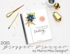 2015 Blogger Planner, Calendar, And Menu Planner