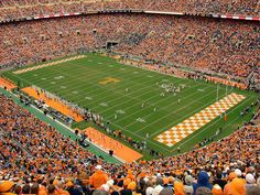 Life is Orange and White. Neyland Stadium at the University of Tennessee. GO VOLS!