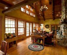 коттедж планировка гостиной в деревенском стиле - Поиск в Google