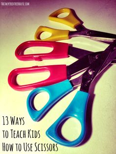 Kids How to Use Scissors Teaching kids the techniques to effectively use scissors! By the occupational therapists at Teaching kids the techniques to effectively use scissors! By the occupational therapists at Cutting Activities, Motor Activities, Classroom Activities, Preschool Activities, Preschool Learning, Early Learning, Teaching Kids, Kids Learning, Learning Shapes