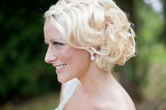 Soft Finger Wave Chignon to the Side|Photo by: taniskatie.com