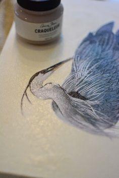 Lee Caroline - A World of Inspiration: DIY - Decorative Wall Art Using Chalk Paint™ & Annie Sloan's, 2 Step Craqueleur