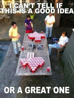 Texas beer pong is definitely a Goode idea.