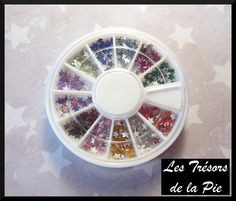 STRASS CRISTAL 3D ONGLES - Nail art - ETOILES - 4mm - Multicolore