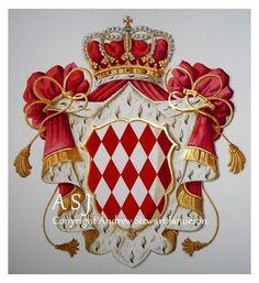 Coats of Arms, Heraldry, Heraldic Art & Illuminated Manuscripts ~ painted by English artist Andrew Stewart Jamieson in 2011.