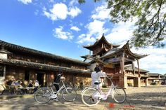 Visitors enjoy the atmosphere at Shaxi town, Yunnan, China. http://www.visiontimes.com/2015/05/01/10-amazing-places-to-visit-in-chinas-yunnan-province.html