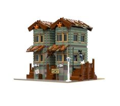 Becke1995built Anton's General Store using 1862 pieces. The model is heavily inspired from the recently released Old Fishing Store, but stands as a great model on its own.