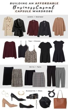 How to Build a Business Casual Capsule Wardrobe - Sequins and Sales