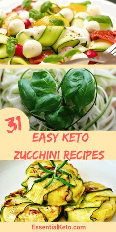 31 keto zucchini recipes for every meal you can imagine - Recipes for breakfast, main zoodle dishes, low carb sides and snacks like keto zucchini chips. Ketogenic recipes to convert old favorite dishes to low carb versions.