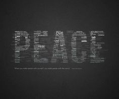 Typography is the art. It is very useful techniques of arranging and modifying designs. Here are 30 Beautiful Typography Fonts Designs World Peace Day, Peace On Earth, Peace Love Happiness, Peace And Love, Typography Quotes, Typography Design, Typography Tutorial, Black Wallpaper, Design Quotes
