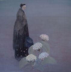 spring beginning by Kristin Vestgard - artist - Cornwall