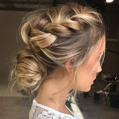 Hairstyles for wedding guests frisuren haare hair hair long hair short Wedding Hair And Makeup, Hair Makeup, Hairstyle Wedding, Messy Wedding Updo, Makeup Hairstyle, Plaited Hairstyle, Wedding Braids, Wedding Hairdos, Eye Makeup
