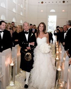 """See the """"The Procession"""" in our An All-White Traditional Destination Wedding in Florida gallery"""
