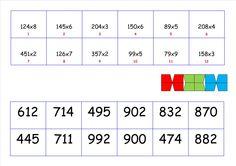 mini loco cijferen vermenigvuldigen tot 1000 Mini, Basic Math, Teaching, Maths, 1, Education, Logo, Math Activities, Activities