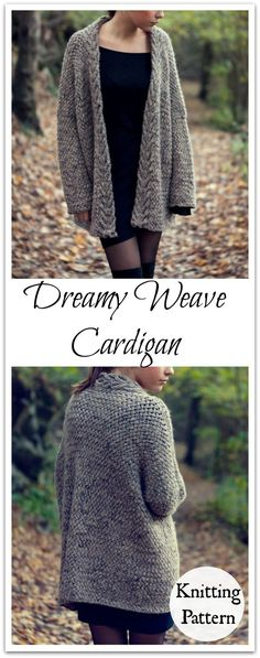 The cardigan is knitted in super soft warm alpaca, perfect for fall and cooler days.  Instant PDF Download #ad #affiliate #knitting #pattern