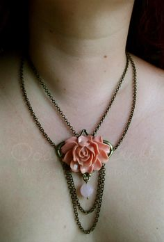 "Ooak☥Craft - 'Dahlia' necklace > Collar ""Dahlia"""