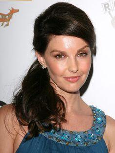 Side ponytail  Half Up Half Down Hairstyles - Celebrities Half Up Hair Dos - Good Housekeeping