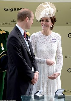 Kate looked delighted to join her husband as he presented the prizes for the Duke of Cambridge stakes for the first time