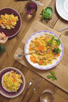 Cheers to you, superstar! Beautiful table. Delicious dinner. This quick and easy Country Ham 'N Rice recipe may have helped you pull it off, but the smiles around the dinner table was all your doing. You deserve it!