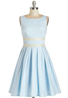 For the blue Emilia Wickstead worn to the National Portrait Gallery April 24, 2013, this is Modcloth's Convivial Pursuit Dress in Powder Blue.