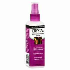 Crystal Body Deodorant Crystal Body Deodorant-Worked-I use this with the Crystal deodorant rock and I love it.  Just two to three sprays and rub the crystal all around your underarm for a few seconds and you are set.  The salts and minerals kill the bacteria that causes odors.