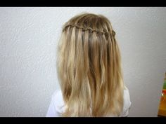 watervalvlecht (invlechten) Bad Hair Day, Love Hair, Big Hair, Cute Hairstyles, Braided Hairstyles, Toddler Hair, Pretty Little Liars, Hair Dos, Hair Care