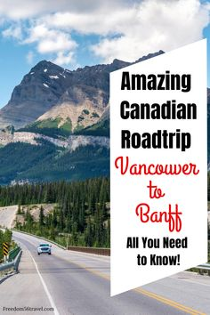 Adventure awaits you in the Canadian Rockies with these great roadtrip guides from Vancouver, British Columbia to Banff, Alberta Canada. See all the great National Parks in the Canadian Rockies for your travel bucket list! Alberta Canada, Banff Alberta, Alberta Travel, Canada Destinations, Road Trip Destinations, Amazing Destinations, Canadian Travel, Canadian Rockies, Toronto