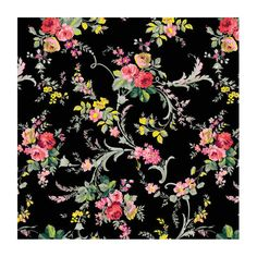 Patterned Paper - Scroll/Floral Black - #M649