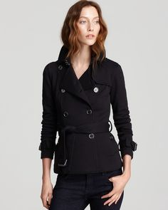 Brit Broxtone Jersey Jacket with Leather Collar