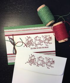 Merry Mice with stamped envelop.   Visit my blog:  http://djcardsandmore.typepad.com/my-blog/