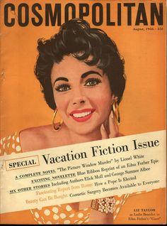Cosmopolitan magazine, AUGUST 1956 Model: Elizabeth Taylor Artist: Jon Whitcomb