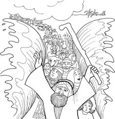 Moses Coloring Pages - Free Printables | Red sea, Sunday school and ...