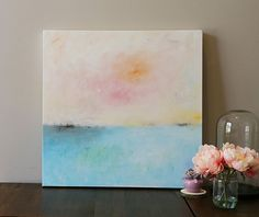modean seascape Acrylic painting abstract by oakartgallery on Etsy