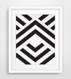 Wall Prints Aztec Art Chevron Wall Art Aztec by MelindaWoodDesigns #Geometricdecor