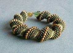 olive spiral beaded bracelet. $45.00, via Etsy.
